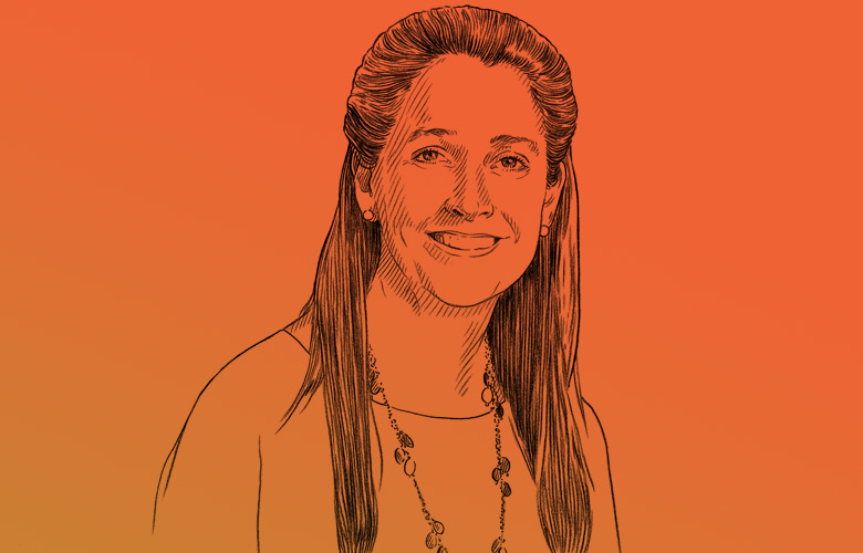 Ana Marshall, CIO of the 9.5 billion William and Flora Hewlett Foundation (Illustration by Anje Jager).