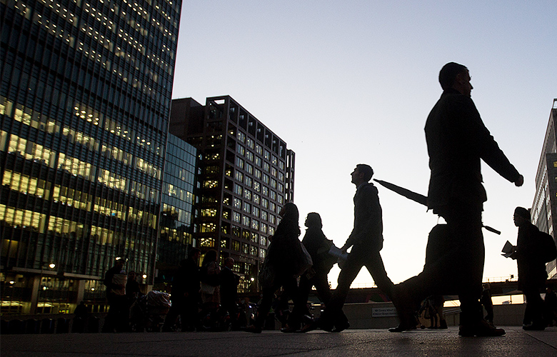 JP Morgan offices in the Canary Wharf district, London (Simon Dawson/Bloomberg)