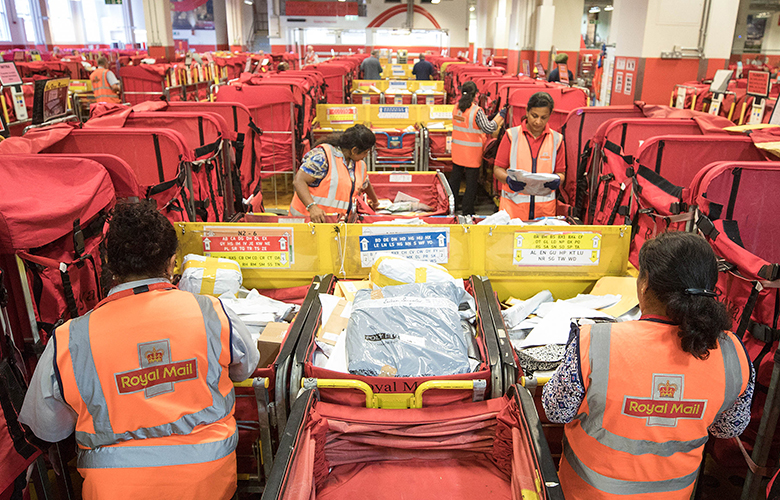 Royal Mail's Mount Pleasant post sorting office in London, UK (Simon Dawson/Bloomberg).