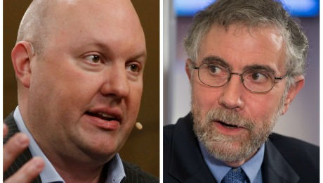 Bitcoin Smackdown: Marc Andreessen vs. Paul Krugman