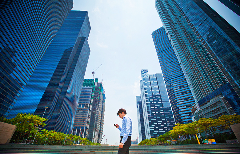 The central business district of Singapore (Sam Kang Li/Bloomberg)