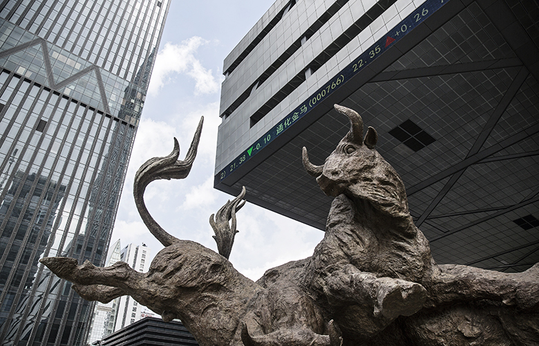 Shenzhen Stock Exchange (Qilai Shen/Bloomberg)