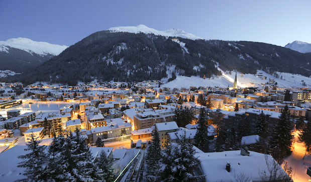 The Schatzalp area above the town of Davos, Switzerland (photo credit: Chris Ratcliffe/Bloomberg).