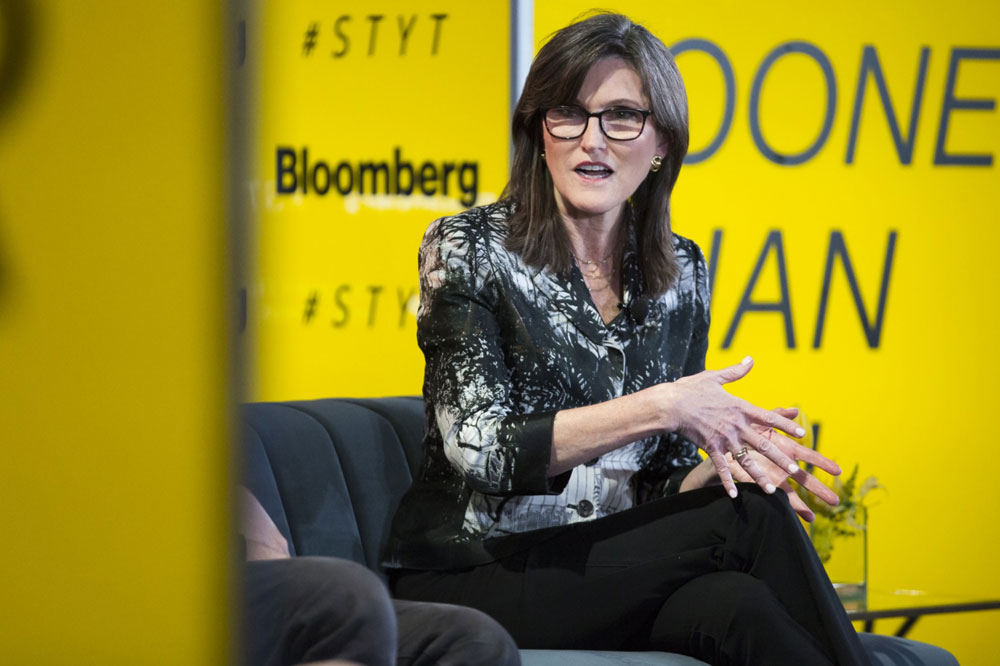 Cathie Wood, CEO of ARK Investment Management. (Alex Flynn/Bloomberg)
