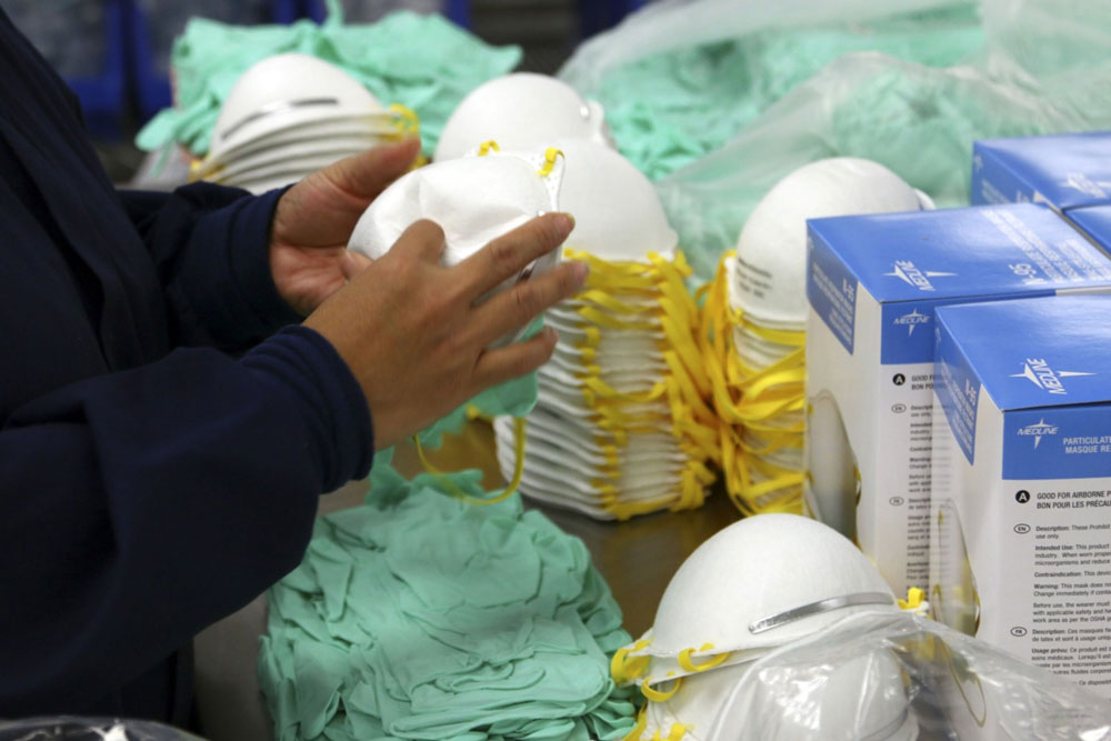 A factory of medical supply company Medline Industries. (Tim Boyle/Bloomberg)