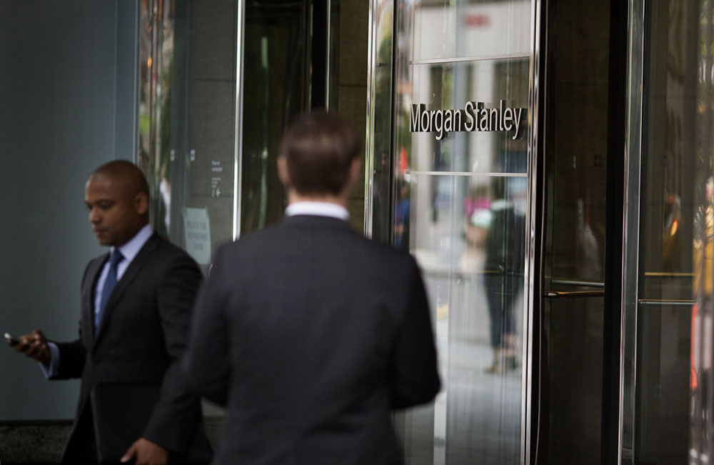 Morgan Stanley headquarters. (Victor J. Blue/Bloomberg)