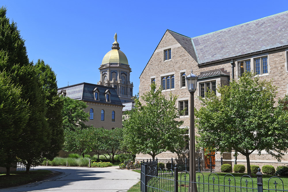 The University of Notre Dame campus. (Bigstock photo)
