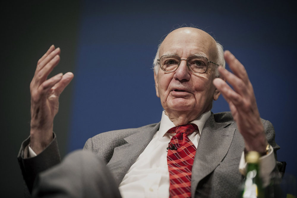 Paul Volcker, former chairman of the U.S. Federal Reserve. (Pete Marovich/Bloomberg)