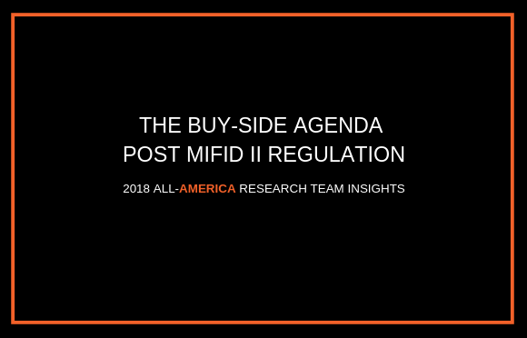 The Buy-Side Agenda Post MiFID II Regulation