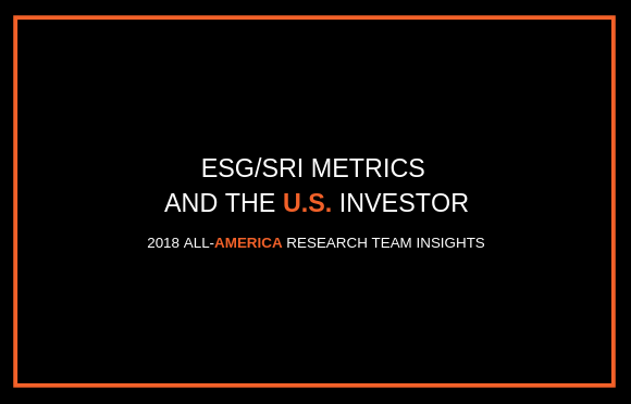 ESG/SRI Metrics and the U.S. Investor