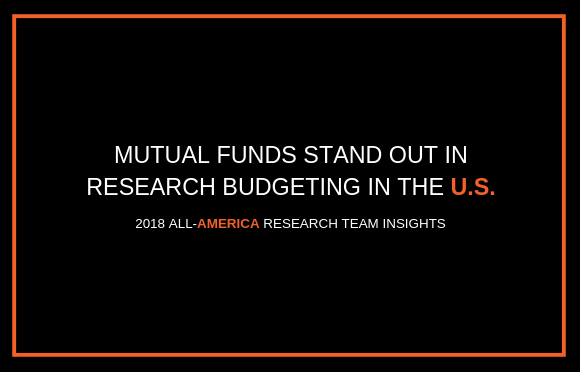 Mutual Funds Stand Out in Research Budgeting in the U.S.