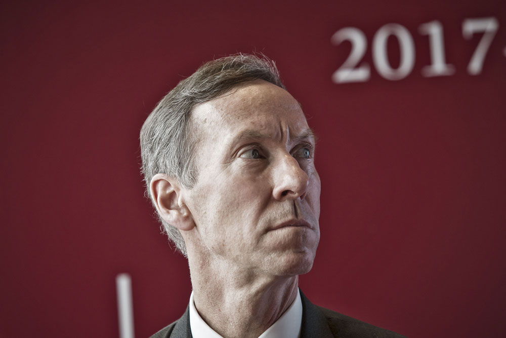 Vanguard announced its chairman, Bill McNabb, will step down at the end of the year. (Qilai Shen/Bloomberg)