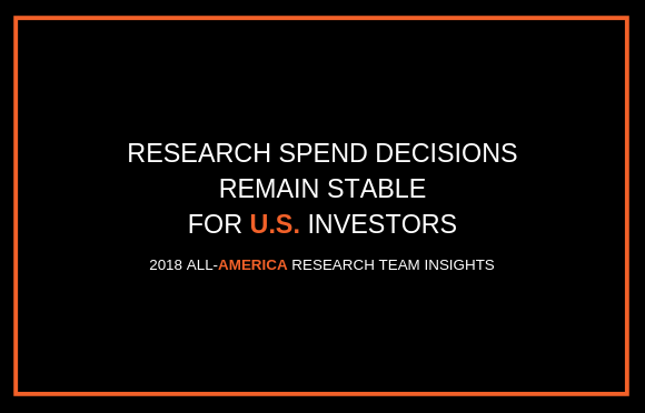 Research Spend Decisions Remain Stable for U.S. Investors