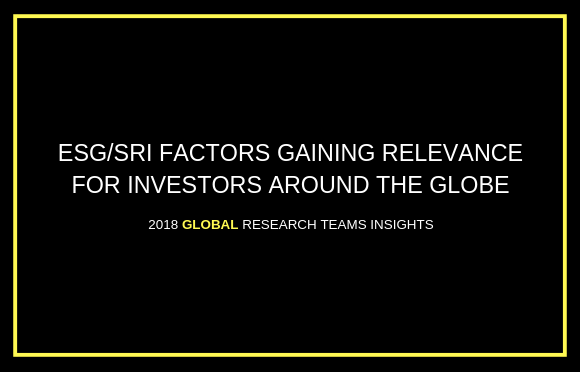 ESG/SRI Factors Gaining Relevance for Investors Around the Globe