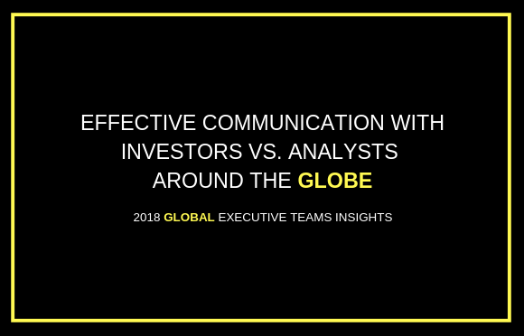 Effective Communication with Investors vs. Analysts Around the Globe