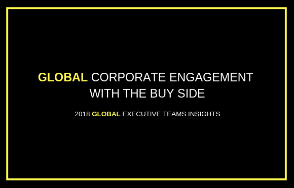 Global Corporate Engagement with the Buy Side