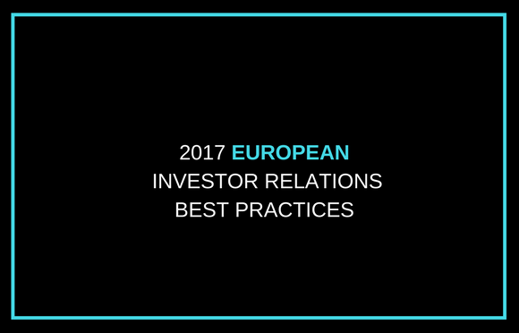 2017 European Investor Relations Best Practices
