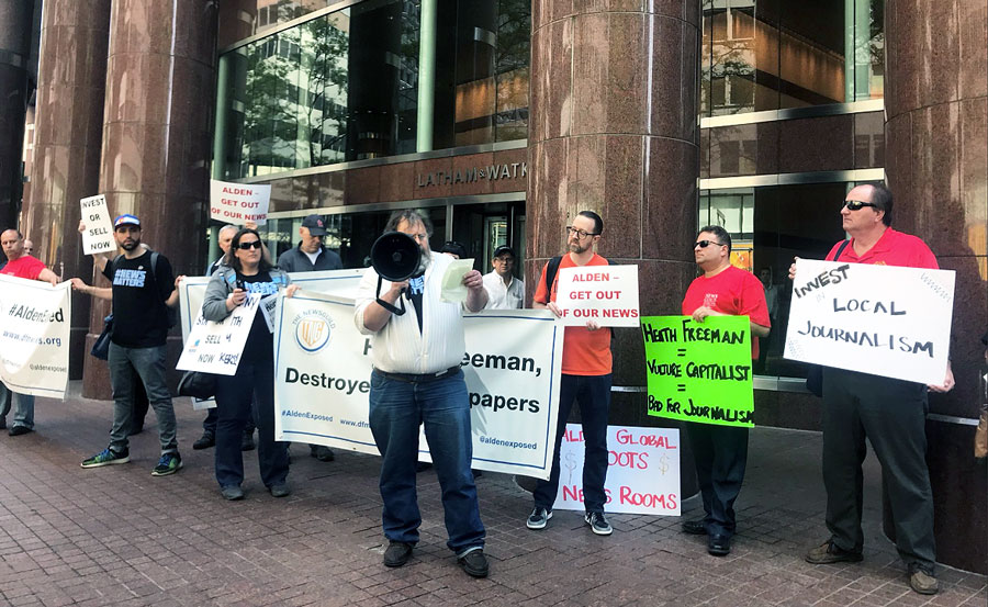Alden Global Offices Picketed by Protesting Journalists