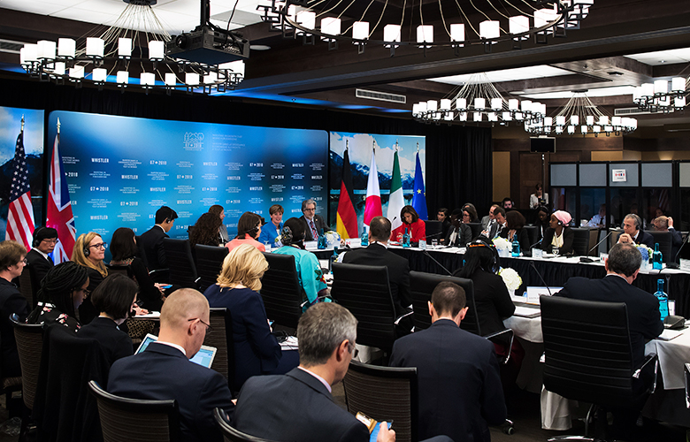 G7 meeting in Whistler, British Columbia, Canada (Darryl Dyck/Bloomberg)