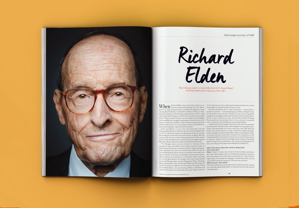 Richard Elden, featured in Institutional Investor's Hedge Fund Hall of Fame.