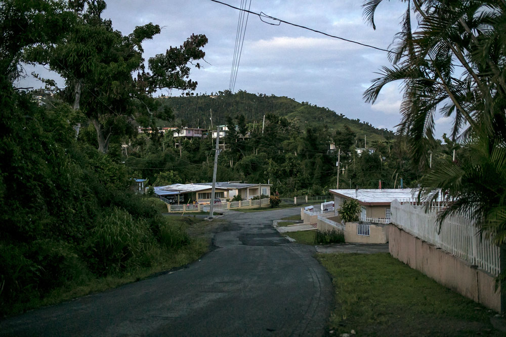 Homes without electricity in the town of Jacanas, Yabucoa, Puerto Rico, May 2018. (Xavier Garcia/Bloomberg)