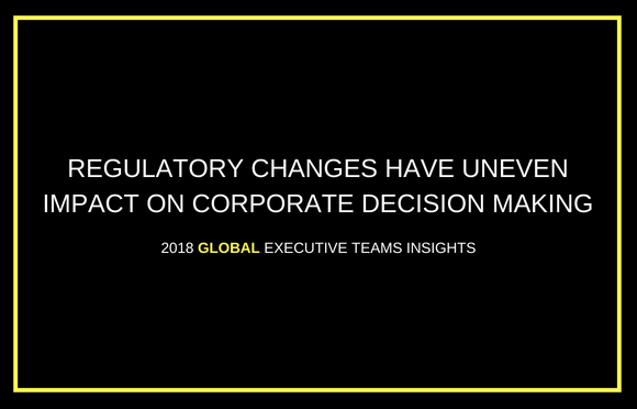Regulatory Changes Have Uneven Impact on Corporate Decision Making