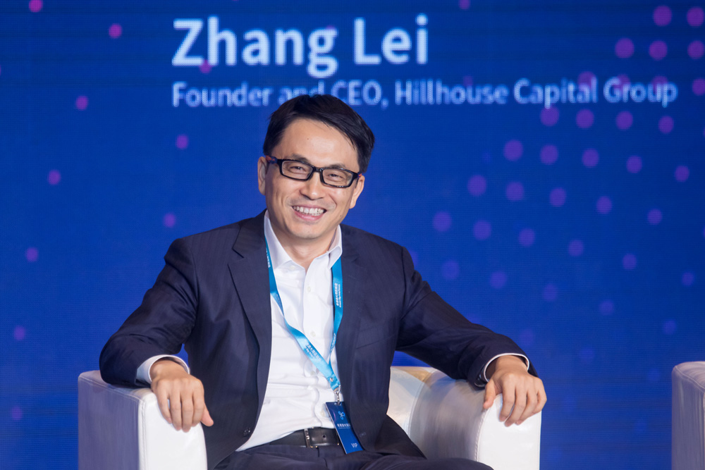 Zhang Lei, chairman and chief executive officer of Hillhouse Capital Management (Paul Yeung/Bloomberg)