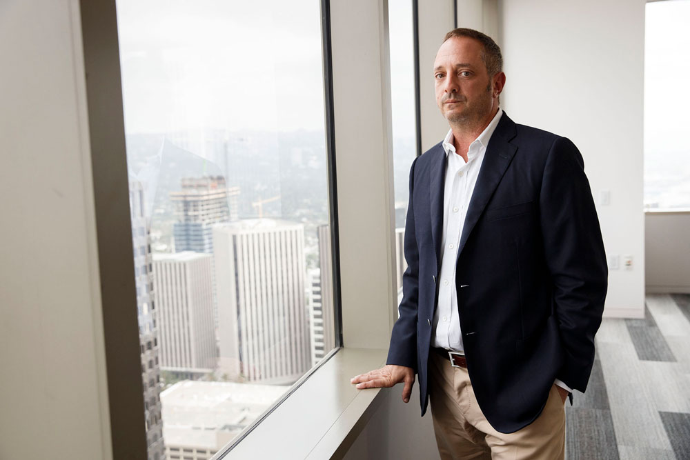 Andrew Left, owner and founder of Citron Research. (Patrick T. Fallon/Bloomberg)