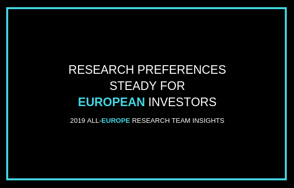 Research Preferences Steady for European Investors