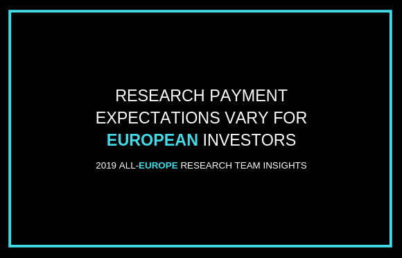 Research Payment Expectations Vary for European Investors