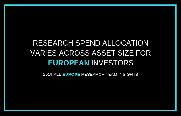 Research Spend Allocation Varies Across Asset Size for European Investors