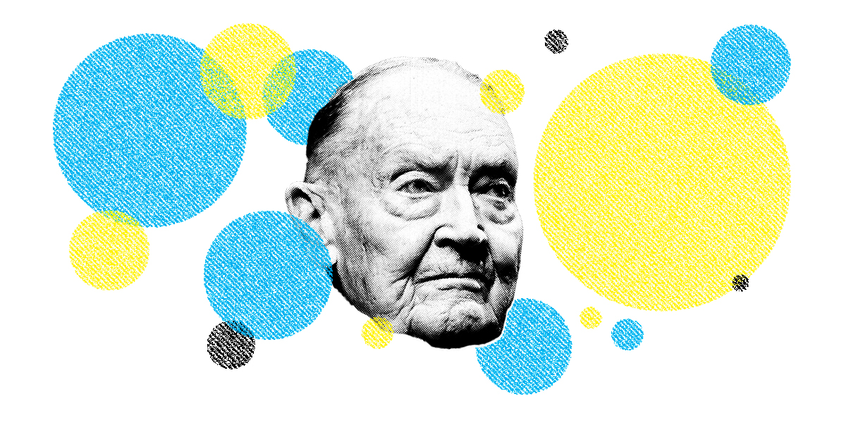 Jack Bogle. (Illustration by II; Peter Foley/Bloomberg)