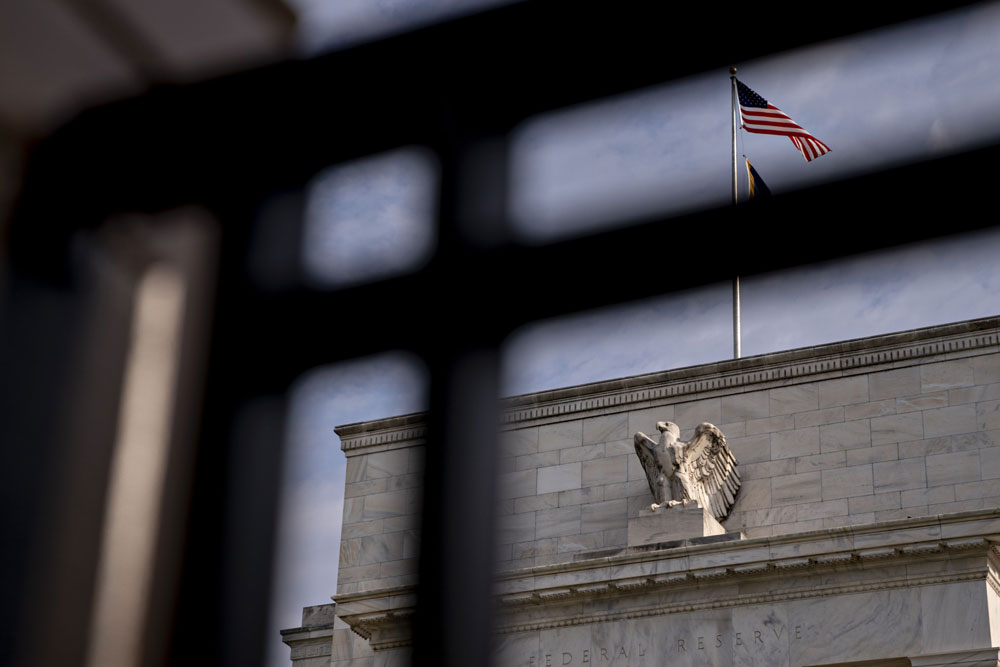 The Federal Reserve building n Washington, D.C. (Andrew Harrer/Bloomberg)