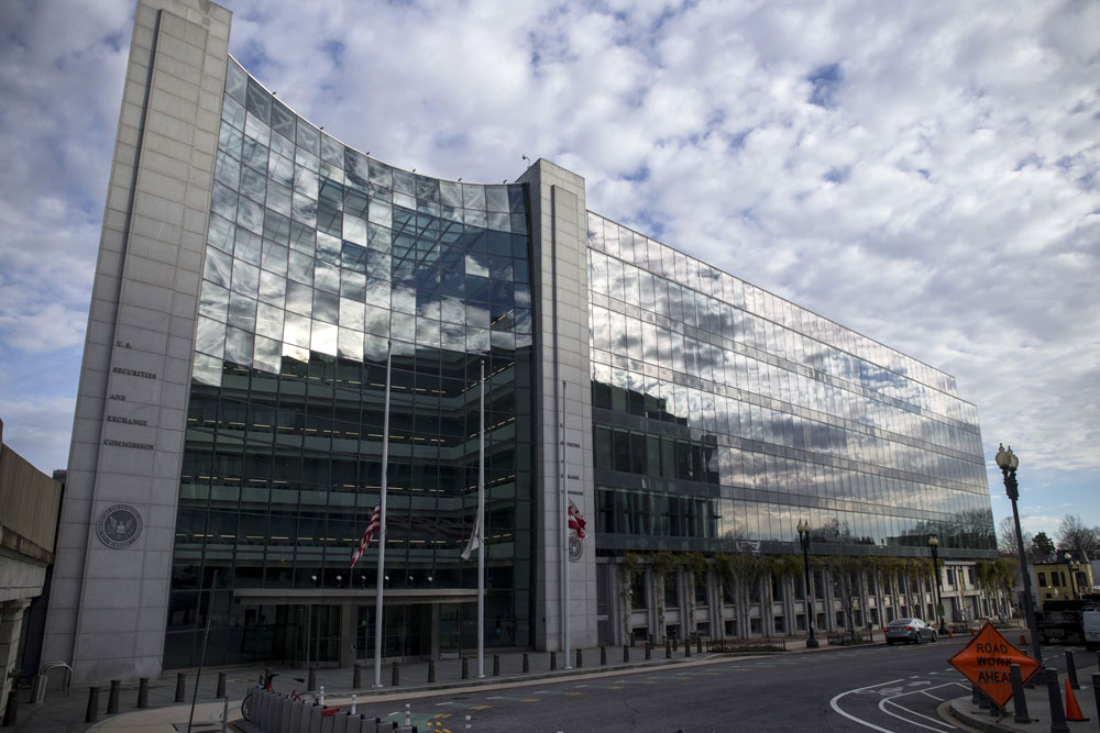 The headquarters building of the U.S. Securities and Exchange Commission. (Zach Gibson/Bloomberg)