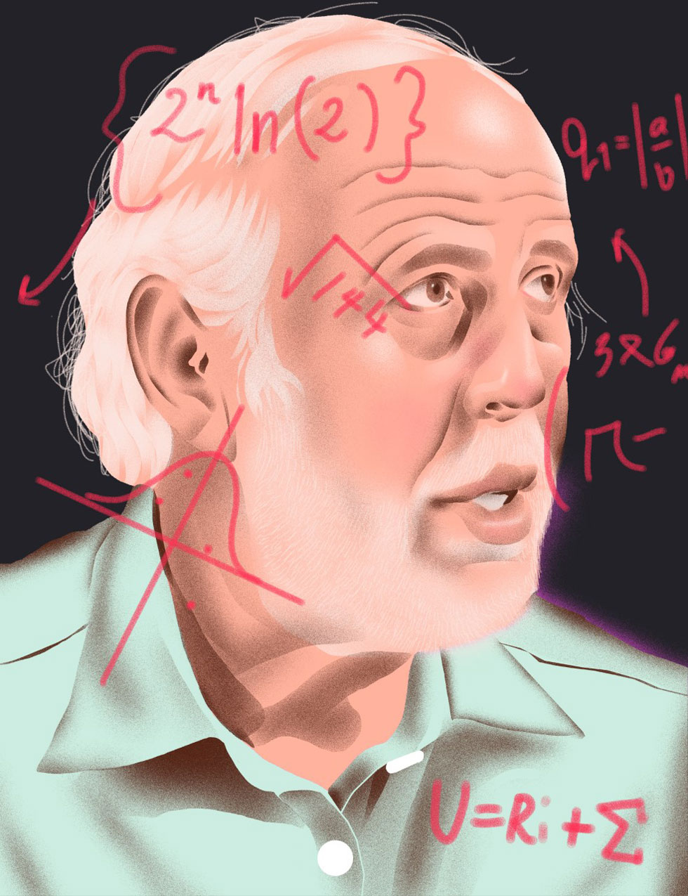 James Simons (Illustration by Richard A. Chance)