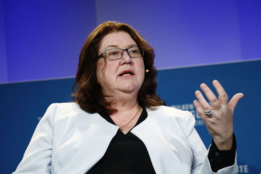 Bridgewater Associates announced Eileen Murray would be stepping down as co-CEO. (Patrick T. Fallon/Bloomberg)