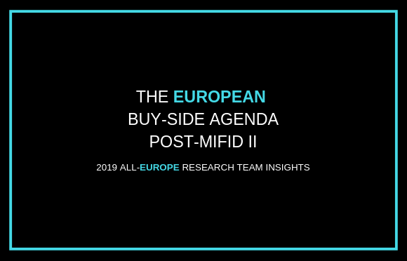 The European Buy-Side Agenda Post-MiFID II
