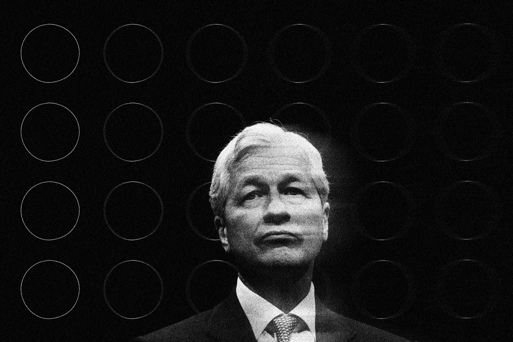 Jamie Dimon (Illustration by II; Andrew Harrer/Bloomberg)