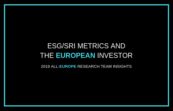 ESG/SRI Metrics and the European Investor