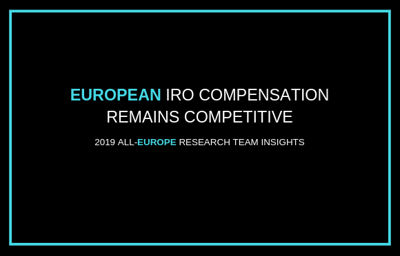 European IRO Compensation Remains Competitive