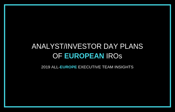 Analyst/Investor Day Plans of European IROs