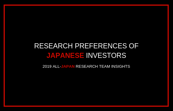 Research Preferences of Japanese Investors