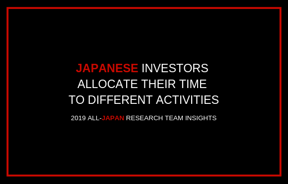 Japanese Investors Allocate Their Time to Different Activities