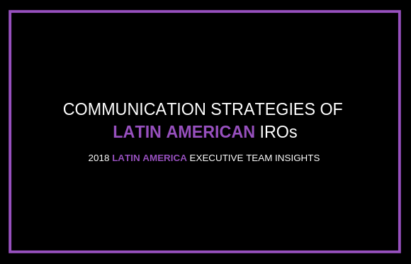 Communication Strategies of Latin American IROs