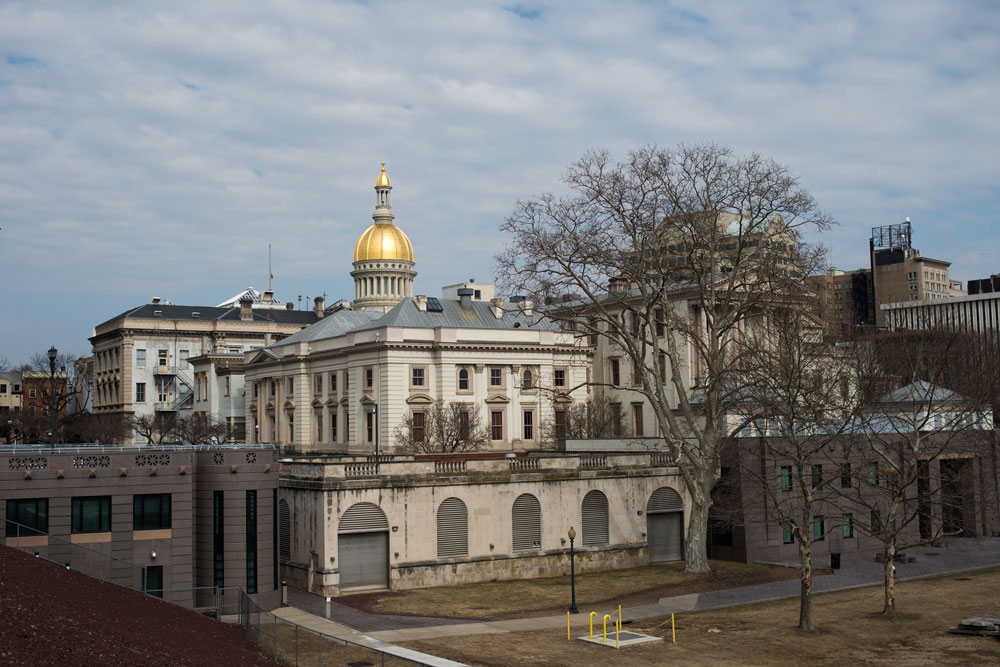 The New Jersey State House in Trenton. (Ron Antonelli/Bloomberg)