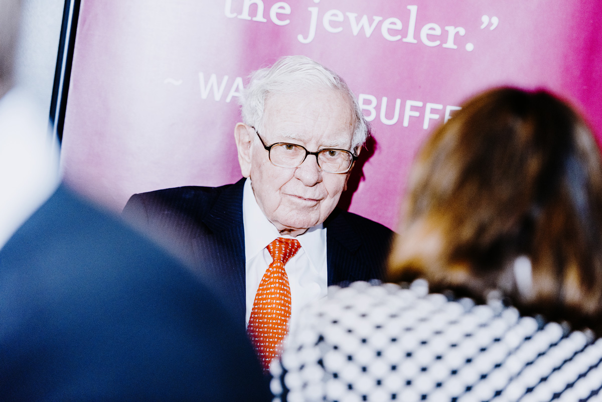 Warren Buffet at the 2019 Berkshire Hathaway annual shareholders meeting. (Houston Cofield/Bloomberg)