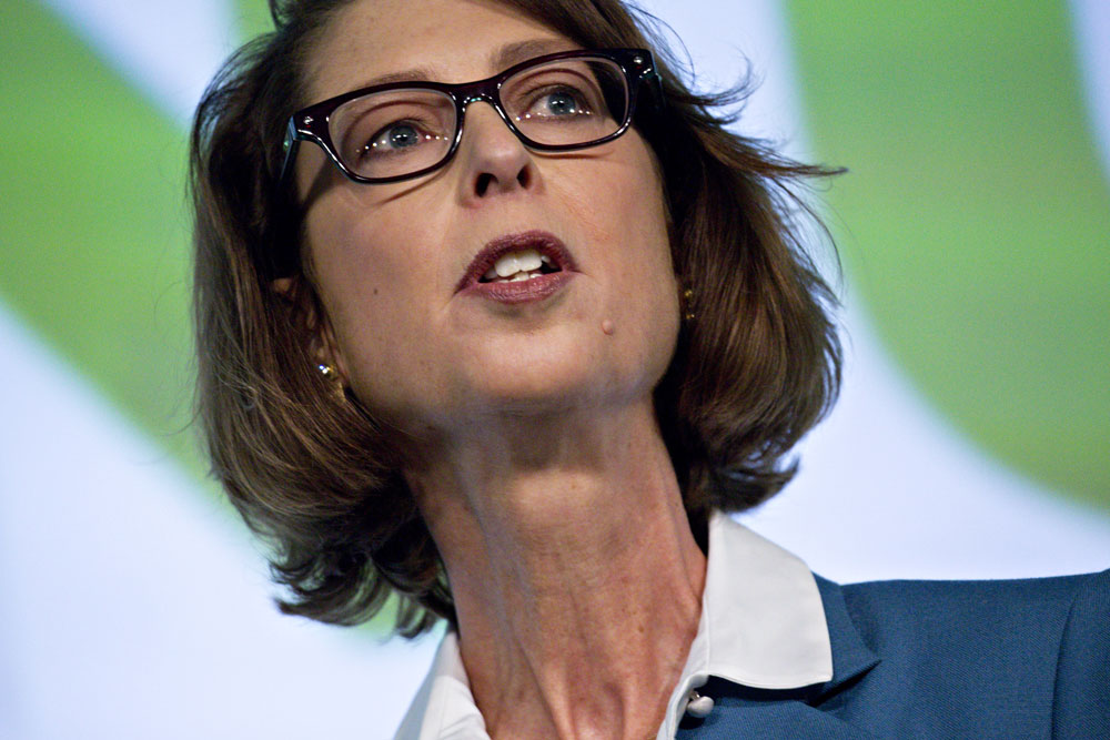Abigail Johnson, chairman and chief executive officer of Fidelity Investments. (Andrew Harrer/Bloomberg)
