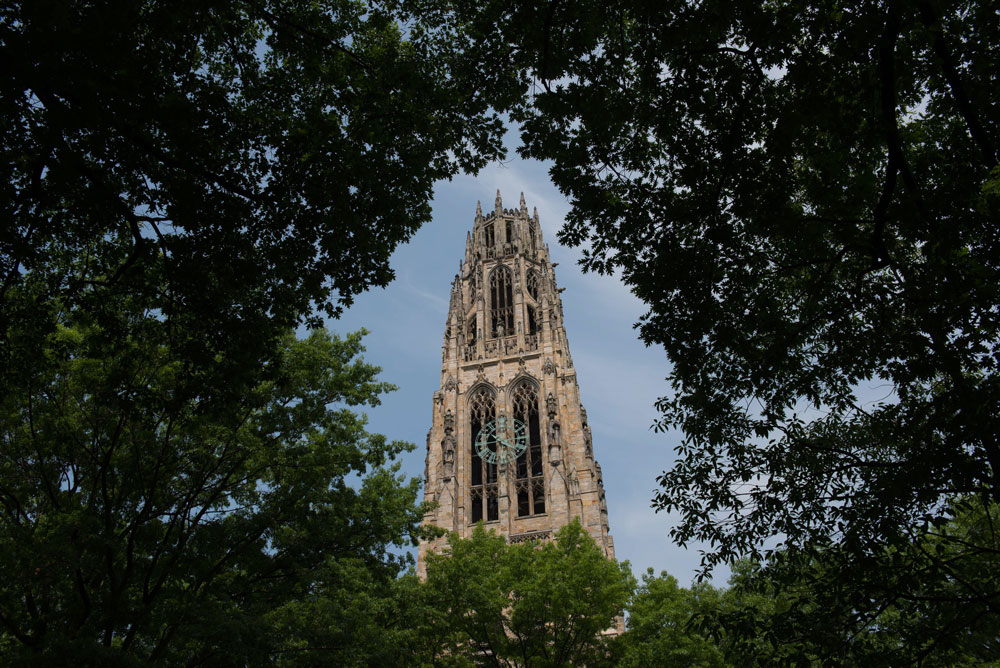 Harkness Tower on the Yale University campus. (Craig Warga/Bloomberg)