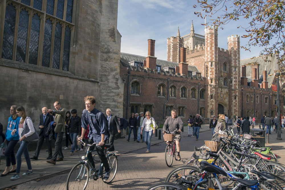 St. Johns College, part of the University of Cambridge. (Peter Kindersley/Bloomberg)