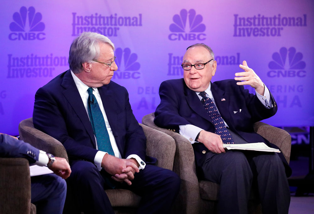 James Chanos and Leon Cooperman (Heidi Gutman/CNBC)
